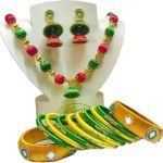 Multicolor Silk Thread Necklace Set