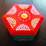 Hexagonal Small Jewel Box Orange