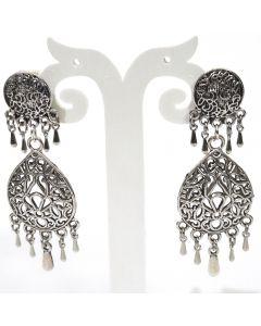 Oxidised Stylish Fancy Party Wear Dangler German Silver Earrings Jewellery for Girls and Women