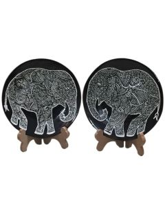 Elephant Wall Decor Ceramic Plate