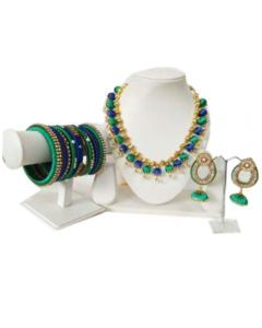 Silk Thread Jewellery Set Antique Flower Necklace with Antique Flower Stud and Jhumka Earring Set
