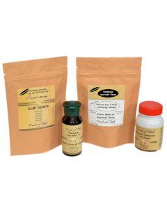 Himalayan Orange peel Powder + Anti hair Fall Triphla Moringa Hair Pack & Ayurvedic Tooth Powder Combo