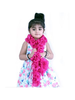 Frilled Scarf with Pink Color