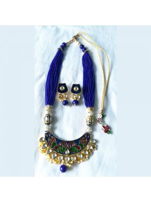 Original Kundan Meenakari Jewellery Set