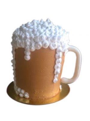 Beer Themed Vanilla Cake