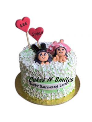 Pineapple Flavored Cute Couple Cake