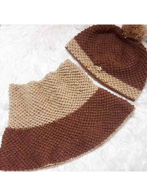 Crochet Cap & Cowl Set for an Adult