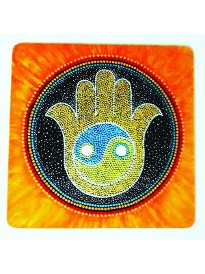 Dot painting God's Hand - HAMSA