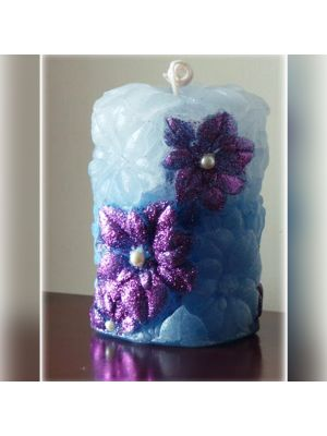 Flower Designed Pillar Candle