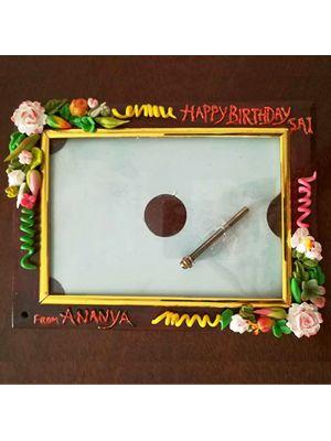 Photo Frame With Handmade Flowers
