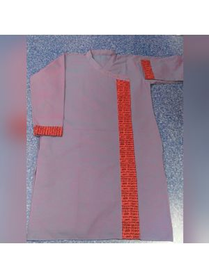 Gents Pink Patch Kurta