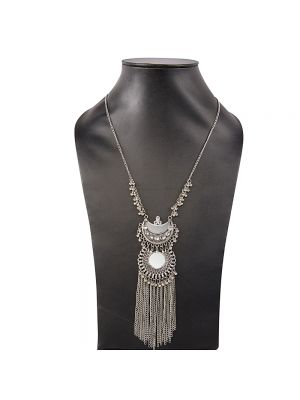 Tribal Double Double Chain Necklace