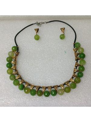 Glass Green Beed Jewellery