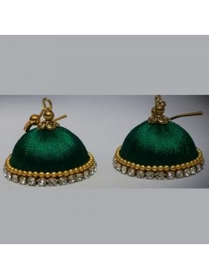 Handmade Silk Thread Jhumka