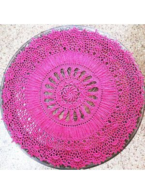 Crochet Pink Textured Doily/Table Cover