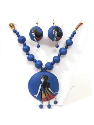 Blue and Black Terracotta Jewellery