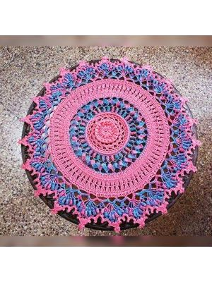 Crochet Multi Colored Textured Doily/Table Cover