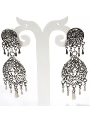 Oxidised Stylish Fancy Party Wear Dangler German Silver Earrings Jewellery for Girls and Women