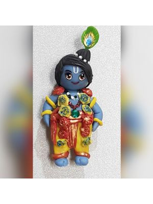 Hand Made Fridge Magnets Of Lord Krishna