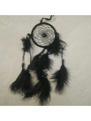 Black Silk Thread and feathers dream Catcher