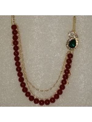 Red Color Glass Beed Jewellery