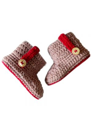 Brown Shade Crochet Baby Shoes