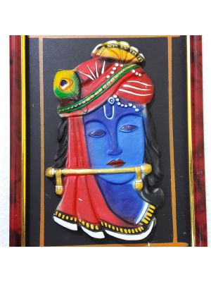 Photo frame Terracotta Krishna Wall Hanging