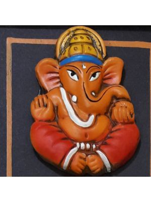 Terra-Cotta Wall Hanging Lord Ganesha Photo frame.