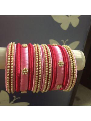 Silk Thread Bangle Pink