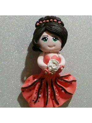 Hand Made Fridge Magnets Doll