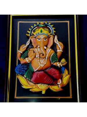 Terracotta Ganesha Photo frame