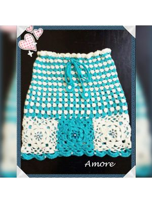 Girls Hand Crochet Skirt
