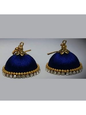 Handmade Blue Silk Threaded Traditional  Jhumka