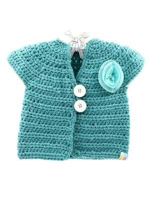 Crochet Shrug Sea Green