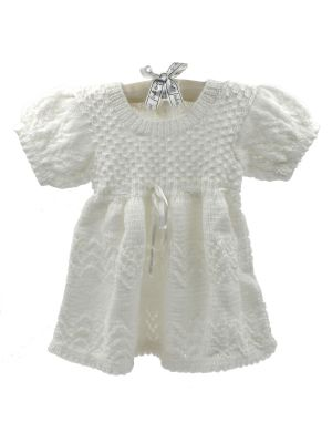 Woolen Lace Frock With White Color
