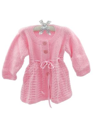 Woolen Full sleeves Frock With Pink Color