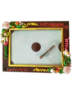 Photo Frame With Handmade Flowers
