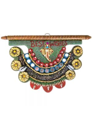Pankha Shaped Key Holder With Ganesha