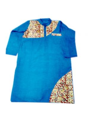 Gents Blue Patch Kurta