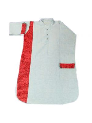 Gents Patch White Kurta