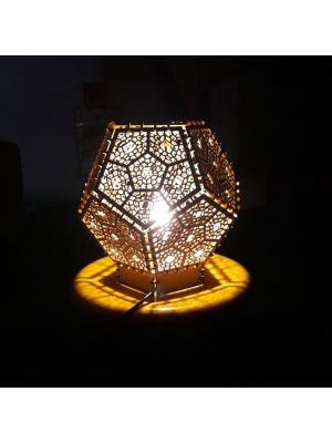 Wooden Dodecahedron desktop lamp
