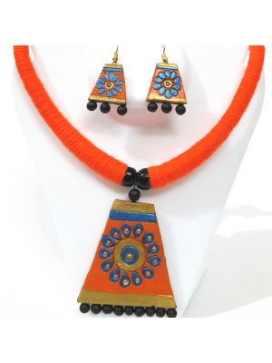 Orange and Blue Terracotta Jewellery