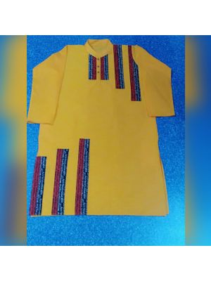 Gents Yellow Patch Kurta