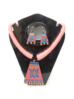Pink and Blue Terracotta Jewellery