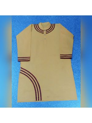 Gents Cream Patch Kurta