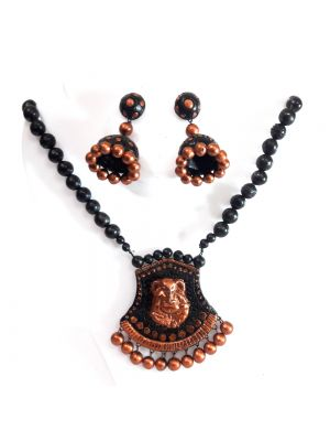 Terracotta Necklace Set with Jhumka