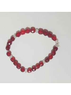 Red Color Stretchable Bracelet