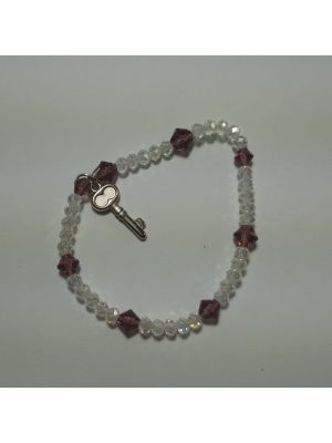 White Crystal Stretchable Bracelet