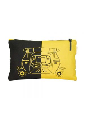 Clean Planet Women's Pouch (Black and Yellow)