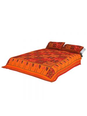 Jaipur Prints Double Bedsheet With Pillow Covers